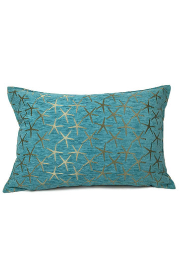 Throw pillow Starfish Bronze Turquoise 50x70cm