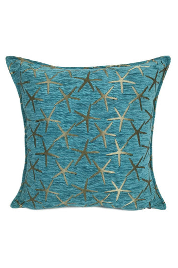 Throw pillow Starfish Bronze Turquoise 45x45cm