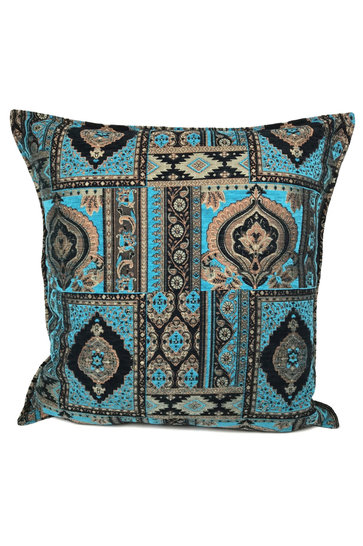 Throw pillow Orient Kilim Turquoise 70x70cm