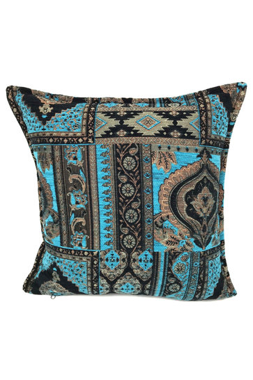 Throw pillow Orient Kilim Turquoise 45x45cm