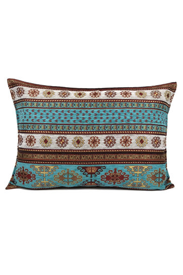 Throw pillow Peru Turquoise White 50x70cm