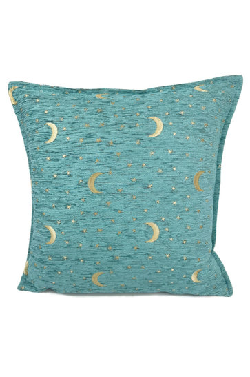 Throw pillow Stars And Moons Pastel Turquoise 45x45cm