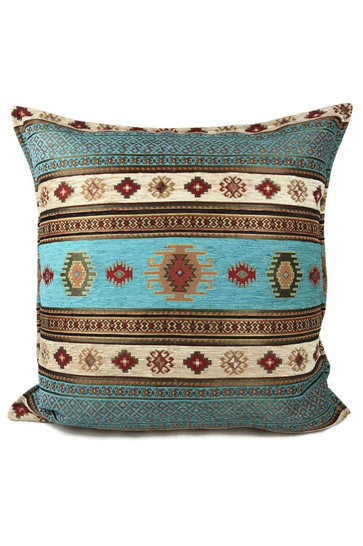Cushion Aztec Turquoise Cream 70x70cm