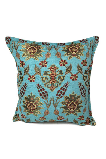 Throw pillow Tropical Flower Daisy Turquoise 45x45cm