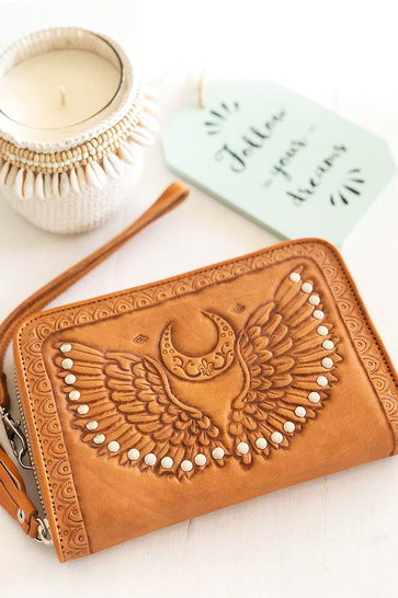 Brieftasche Angel Wings Cognac
