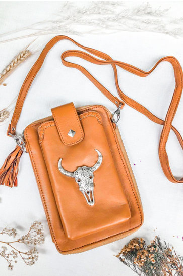 Crossbody Bag Rodeo Festival Cognac