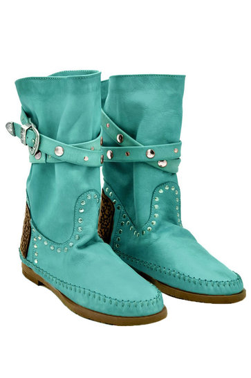 Boots Tricot Vintage Turquoise