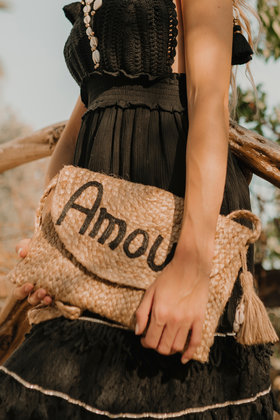 Clutch Amour Negro