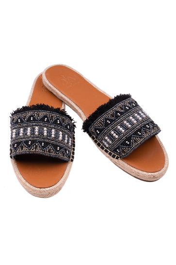 Slippers Pearl Zwart