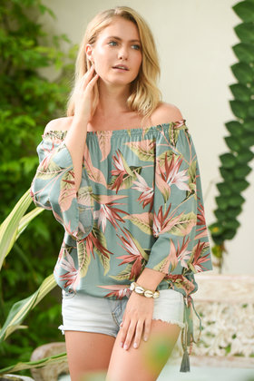 Blouse Bibi Palm Springs Green