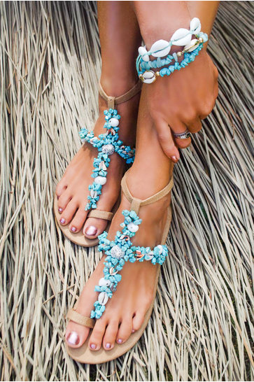 Sandals Leilani Turquoise