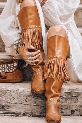 Wild Vintage Cognac boots