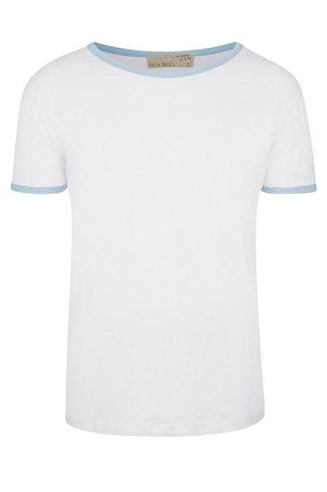 Heren T-shirt Sky Wit