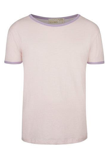 Heren T-shirt Lila Lichtroze