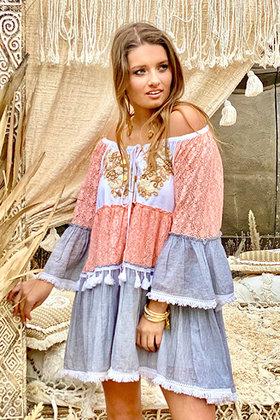Robe courte Reya Peach