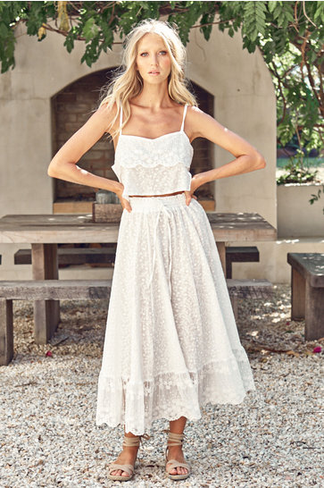 Maxi Skirt Lace Jordyn White