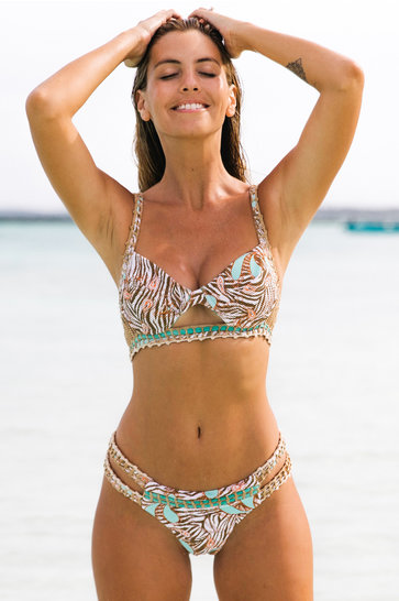 Pantalon de Bikini Latina Thaya Taupe