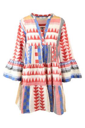 Kurzes Kleid Ella Triangle Red