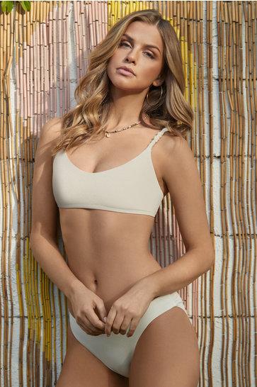 Bikinihose geraffte Opalcreme