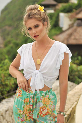 Blouse Butterfly White