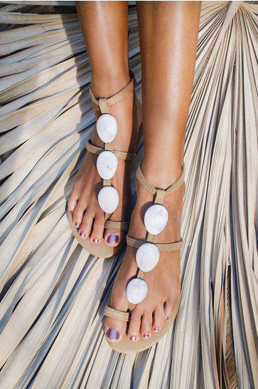 Sandals The Rock Marble Ivory