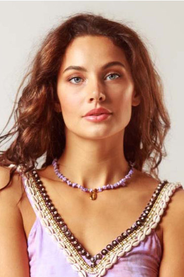 Necklace Indy Short Lila
