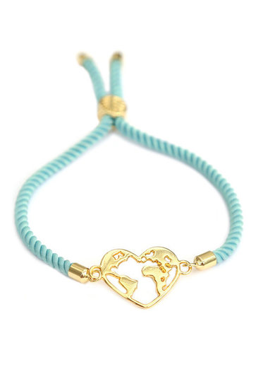 Armband heart Earth Mint