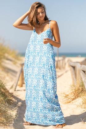 Maxi Dress California Aqua
