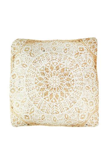 Cushion Jute Mandala Natural
