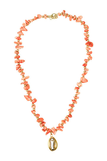 Necklace Indy Short Coral