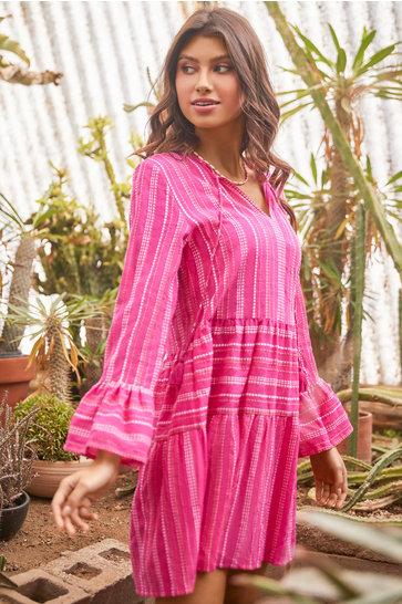 Vestido corto Morgan Topaz Pink