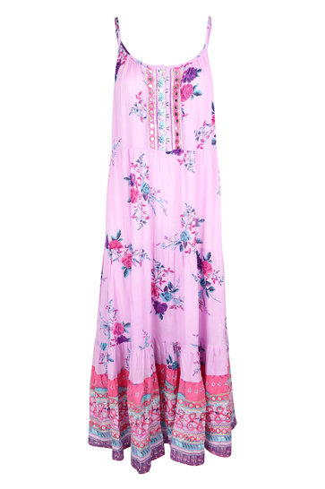 Maxi Dress Rainbow Lilac