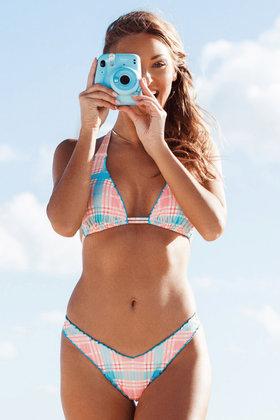 Bikini Broekje Wavy Leg South Beach Roze