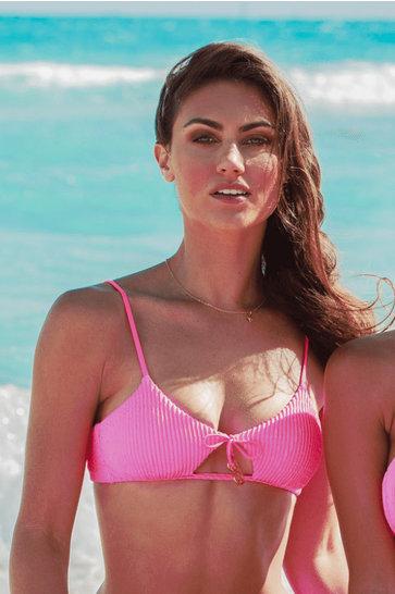 Top de Bikini Scoop Pura Curiosidad Rosa