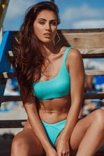 Bikini Set One Shoulder Pura Curiosidad Aqua