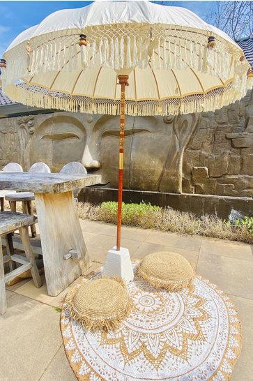 Balinesischer Sonnenschirm 200dm Ecru