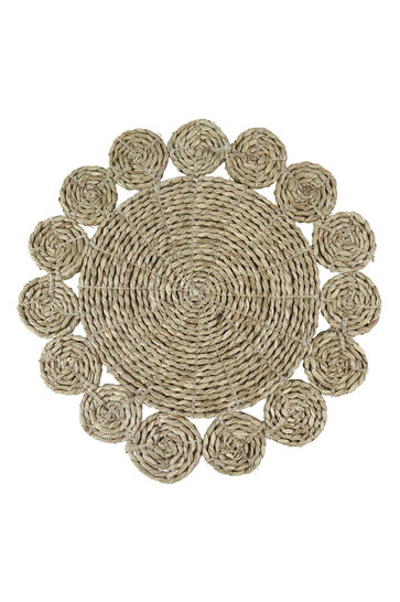 Wicker Placemat Sun Natural