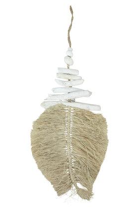 Decoration Hanger Leaf White