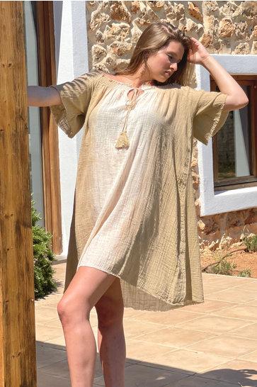 Short Sherita Natural Dress
