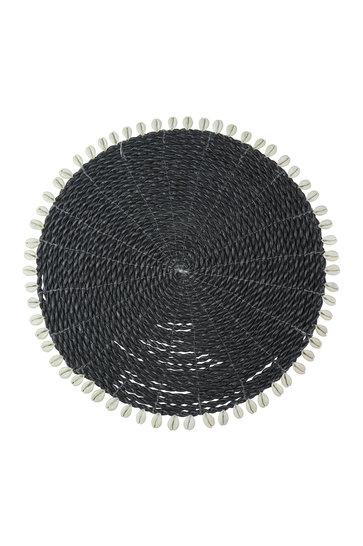 Tischset Muscheln schwarz