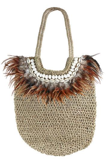 Shopper Feather Naturel