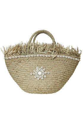 Beach bag Shells Natural