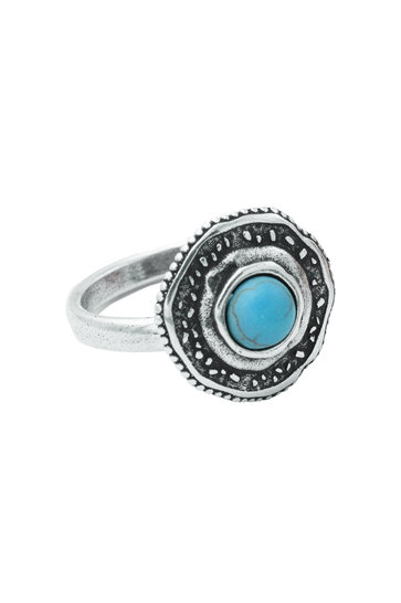 Ring Fortuna Turquoise Zilver