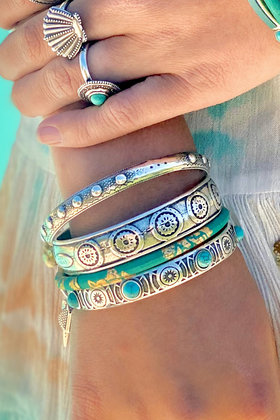 Bracelet Timeless Pierres Turquoise Silver