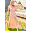 ibzmode Maxi Wrap Dress Valentina Peach