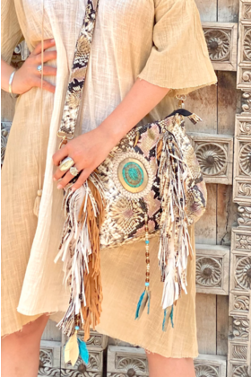 Bag Moi Feathers Beige