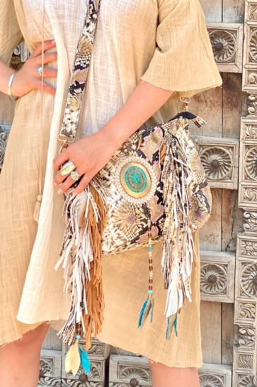 Sac Moi Feathers Beige