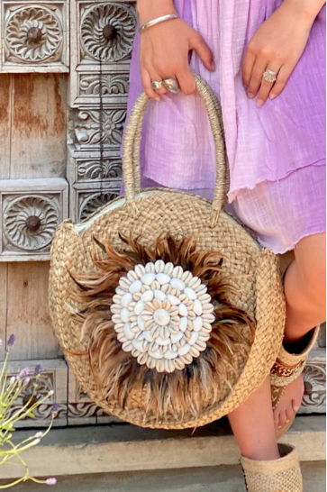 Roundie Bag Feathers