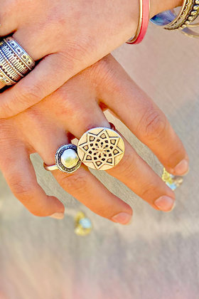Ring Round Forme Silver