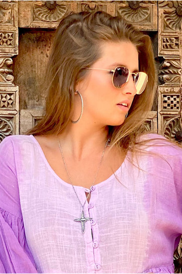 Halskette Timeless Croix Grande Silber